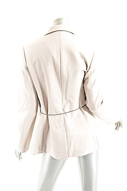 Brunello Cucinelli Wool/Cashmere Belted Wheat Jacket Image 2