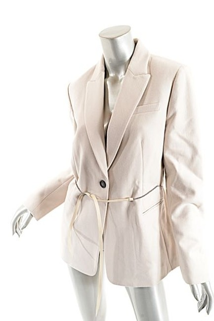 Brunello Cucinelli Wool/Cashmere Belted Wheat Jacket Image 3
