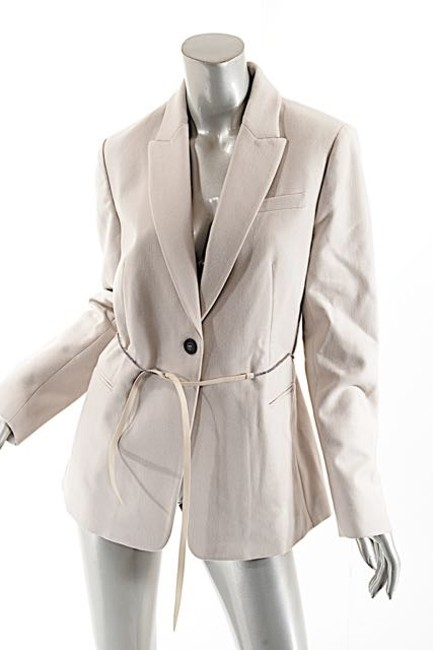 Brunello Cucinelli Wool/Cashmere Belted Wheat Jacket Image 4