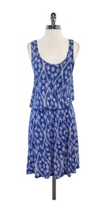 Joie short dress Blue & White Print Sleeveless on Tradesy