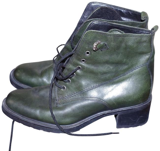 Green Italy Leather Ankle Insulated Lace Up Women Size:38 Boots/Booties Size US 7.5 Regular (M, B) Green Italy Leather Ankle Insulated Lace Up Women Size:38 Boots/Booties Size US 7.5 Regular (M, B) Image 1