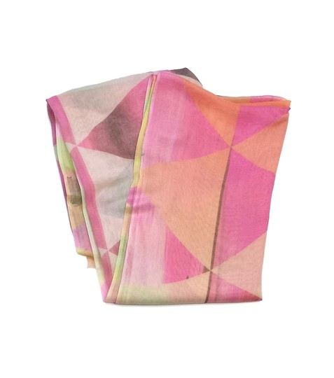 Preload https://img-static.tradesy.com/item/19755039/pink-and-yellow-patterned-cotton-scarfwrap-0-0-540-540.jpg