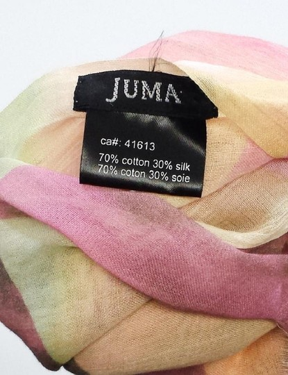 Juma Pink & Yellow Patterned Cotton Scarf