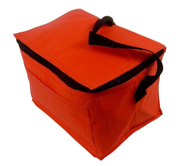 Prime Line Box Insulated Lunch Foil - Red. Red Nylon Tote Prime Line Box Insulated Lunch Foil - Red. Red Nylon Tote Image 1