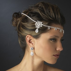 Elegance By Carbonneau Stunning Rhinestone Wrap Wedding Headpiece