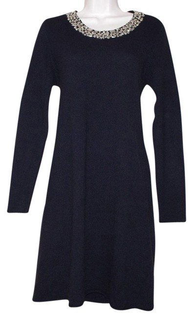 Preload https://img-static.tradesy.com/item/19755141/neiman-marcus-black-cashmere-silver-neck-trim-sweater-above-knee-night-out-dress-size-8-m-0-1-650-650.jpg