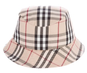 Burberry Tan, black, brown Burberry Nova check cotton bucket hat M Medium