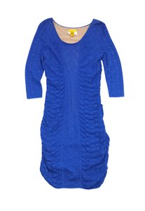 Catherine Malandrino short dress Blue Knit Bodycon on Tradesy