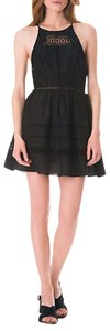 Sam Edelman short dress Black Cut-out Embroidered on Tradesy