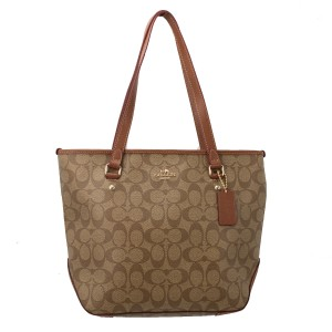 Coach F34603 Tote in Khaki/Saddle