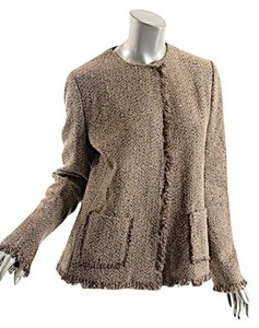 Ralph Lauren Taupe Tweed Wool/cashmere Brown Jacket