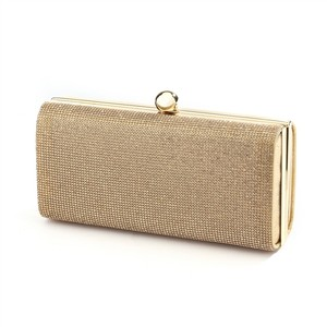 Mariell Gold Micropave Crystal Clutch Evening Bag In 4390eb-gs-g Bridal Handbag