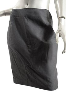 Akris Punto Cotton/Silk Rear Zip Skirt GRAY
