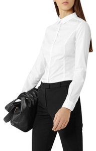 Reiss Long Sleeve Button-front Shirt Blouse 'ruben' Button Down Shirt White