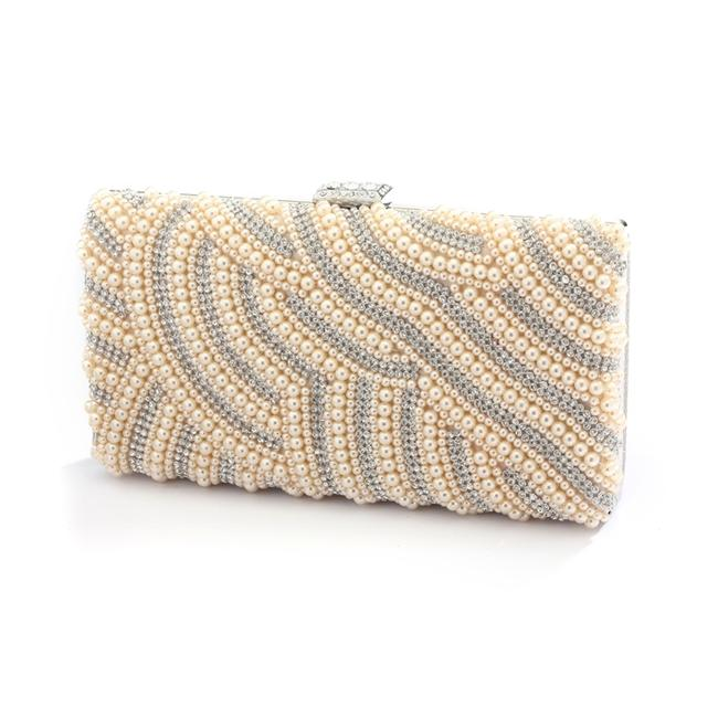 Mariell Gold Evening Bag Honey Beige Pearl with Bezel Crystals 4398eb-ho-s Bridal Handbag Mariell Gold Evening Bag Honey Beige Pearl with Bezel Crystals 4398eb-ho-s Bridal Handbag Image 1