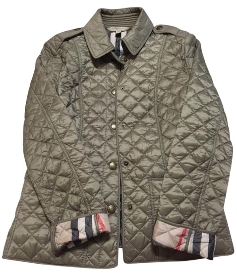 Burberry Brit Pale Fawn Diamond Quilted Jacket Size 4 (S) - Tradesy 2e75ac6e9b219