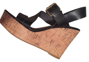 Mossimo Supply Co. Black and Tan cork Wedges