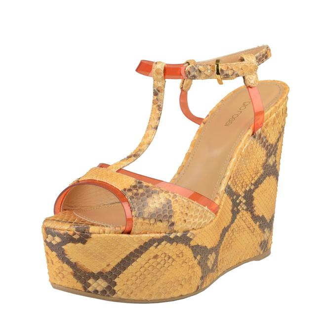 Sergio Rossi Multi-color Women's Python Skin High Heel Sandals Platforms Size US 8 Regular (M, B) Sergio Rossi Multi-color Women's Python Skin High Heel Sandals Platforms Size US 8 Regular (M, B) Image 1