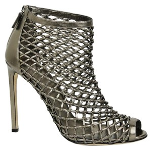 Gucci Leather Woven Metallic Boots