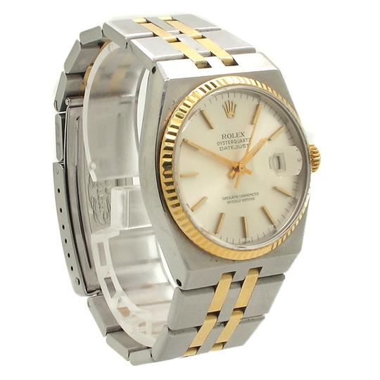 Rolex Rolex 17013 Datejust 18K Gold Bezel Stainless Steel Mens Quartz Watch