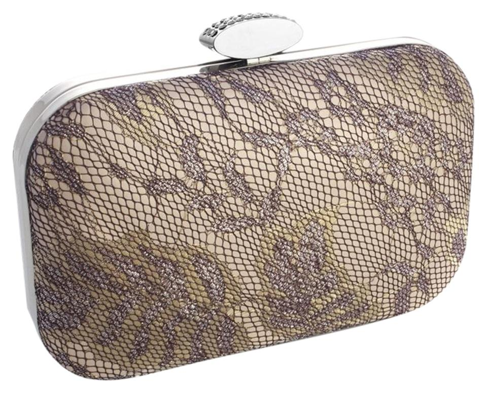 594eb95005 Mariell Evening Minaudiere with Shimmer 3454eb-ch Champagne Satin ...