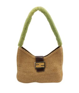 Fendi Green Flap Shoulder Bag