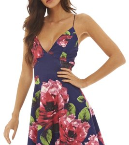 AX Paris short dress Floral navy on Tradesy