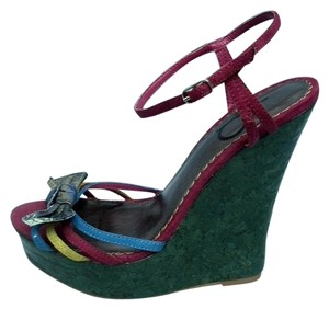 Bakers Sandals Multi-Colored Wedges