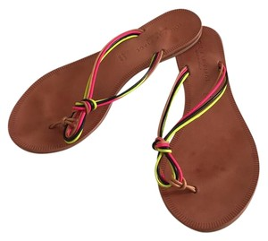 Joie A la place Flip Flops Flip Flops Strappy Multi Colored Black pink yellow tan Sandals