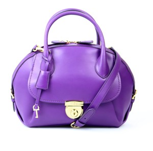 Salvatore Ferragamo Italian Leather Satchel in Purple