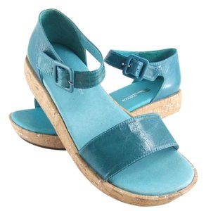 Antelope Turquoise Leather Sandals