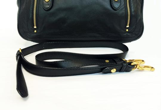Marc by Marc Jacobs Petal To The Metal Voyage Leather Satchel in Black