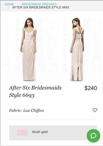 Dessy Blush Dessy After Six Bridesmaids Style 6693 In Blush Dress