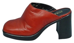 Durango Leather Red Mules