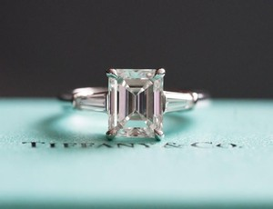 Tiffany & Co. Tiffany & Co. Emerald Cut Platinum 2.02ct Color G Clarity Vs1 Diamond Engagement Ring Size 4.5