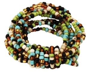 TLC Beaded Fancy Knot Stretch Bracelet - Multi (Brand New)