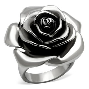 La Bella Rose Stainless Steel Camellia Flower Ring - 07099