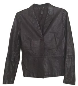 Kenneth Cole Plum Leather Jacket