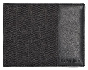 Calvin Klein NEW BOX Calvin Klein Men's CK signature Logo leather passcase wallet