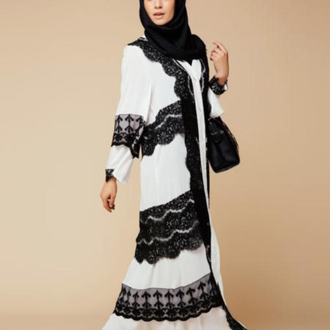 Black and white Maxi Dress by Voglly