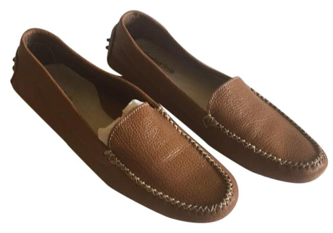 Brown Luggage Driving Mocassin Flats Size US 10.5 Regular (M, B) Brown Luggage Driving Mocassin Flats Size US 10.5 Regular (M, B) Image 1