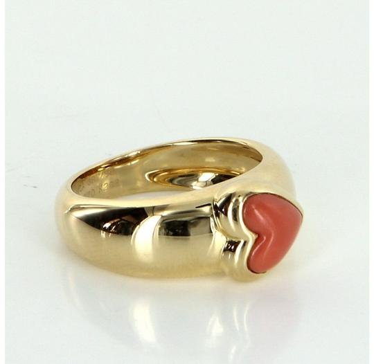 Van Cleef & Arpels Exquisite & Rare 18k Yellow Gold Coral Heart Ring