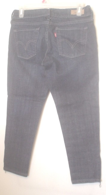 Levi's Levi Strauss & Co Dark Denim Wash Low Casual Skinny Jeans-Dark Rinse