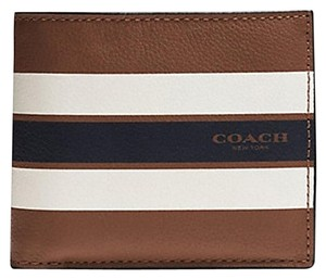 Coach COACH VARSITY COMPACT ID WALLET: MSRP $175