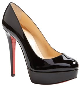 Christian Louboutin Round Toe Strong Platform Black Pumps