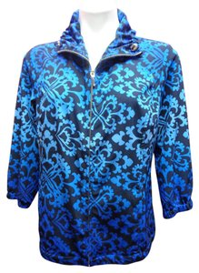 Chico's Zenergy Neema Ombre Blue/Black Jacket