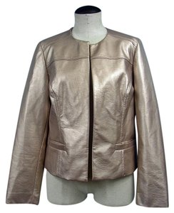 Chico's Faux Leather Gold Jacket
