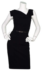 Black Halo Workwear Midi Dress
