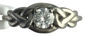 Other Solitaire Palladium 0.46ct Color I, Clarity VVS1 Diamond Engagement