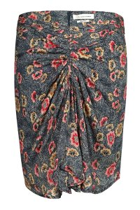 Isabel Marant Animal Print Skirt floral skirt